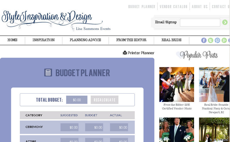 Log in to our secure Budget Planner