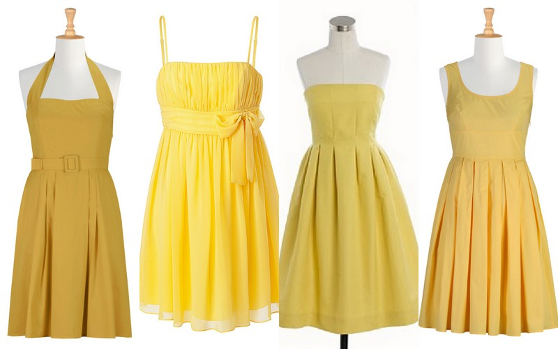 Inspiration: Bridesmaid Dress: Color: Lemon Zest