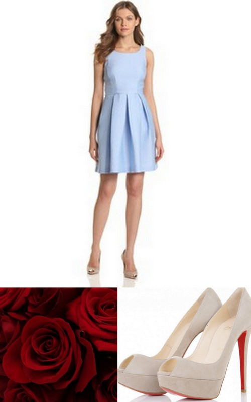 Style Inspiration and Design Dusk Blue Bridesmaid Dress Inspiration