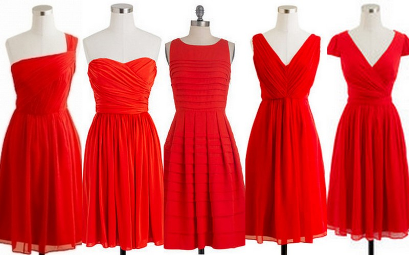 Panatone Poppy Red Bridesmaid Dresses