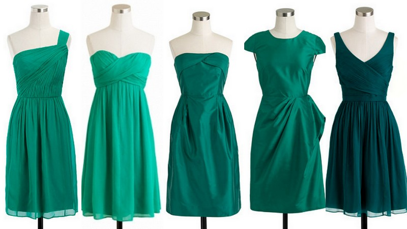Emerald Green Bridesmaid Dress Collage