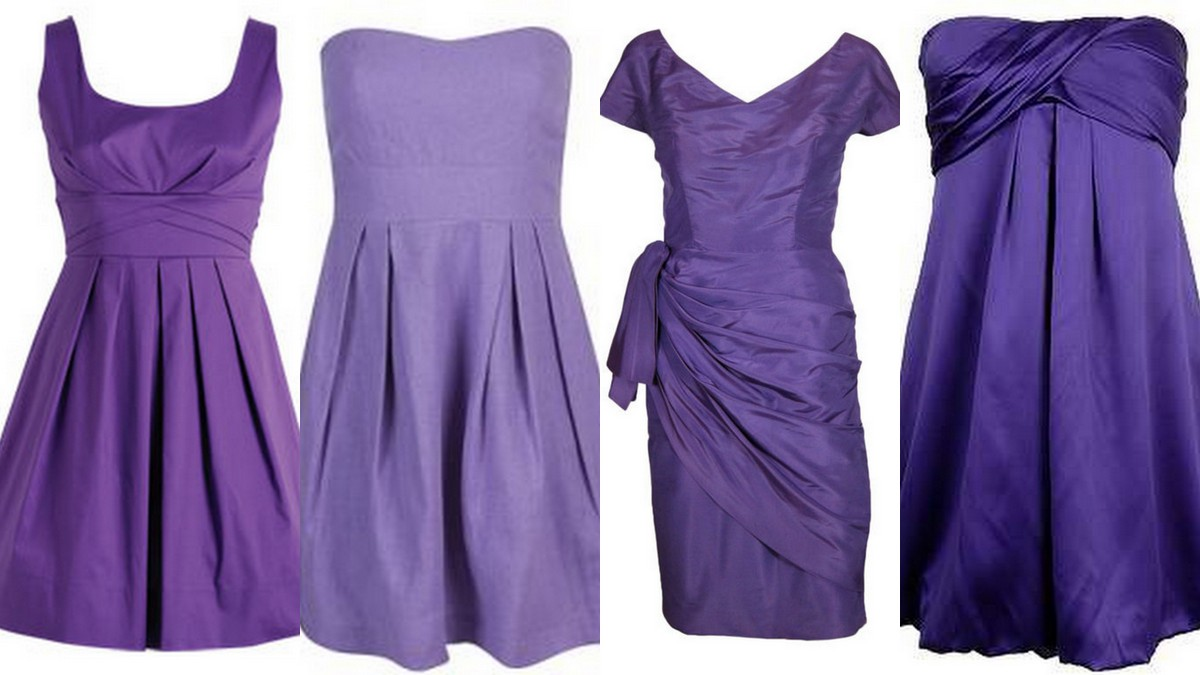 Style Inspiration and Design African Violet Purple Bridesmaid Dress