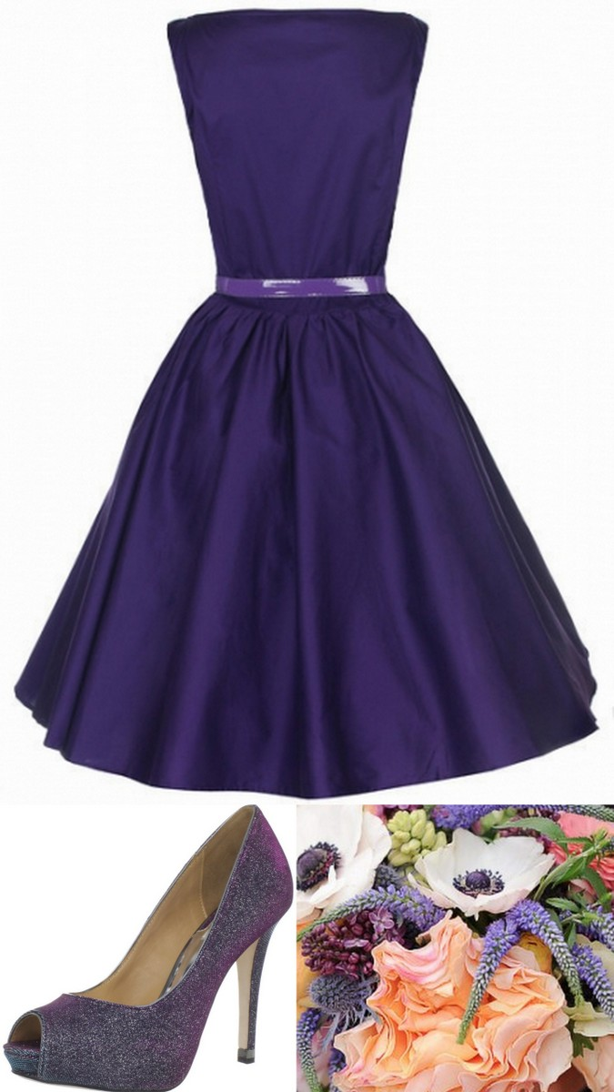 Style Inspiration and Design African Violet Purple Bridesmaid Dress Inspiration