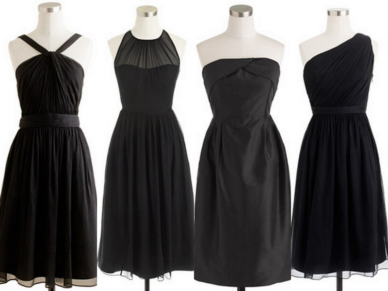 Style Inspiration and Design Black Bridesmaid Dress Inspiration