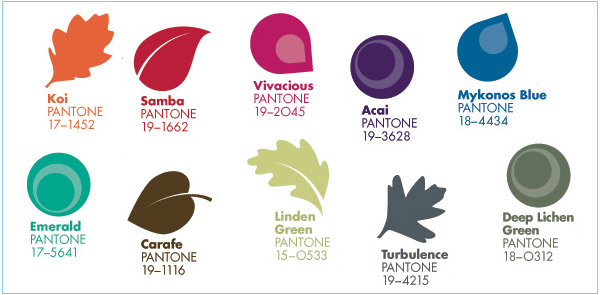 2013-Fall-Color-Trend-Pantone - Style Inspiration and Design