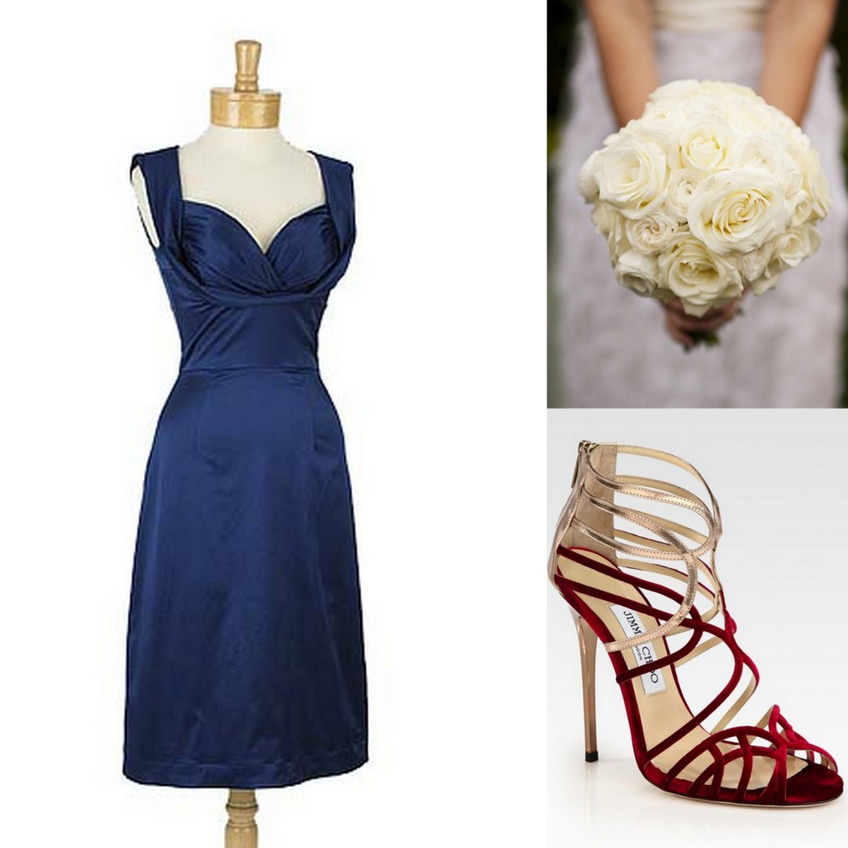 Style Inspiration and Design Monaco Blue Bridesmaid Dress Inspiration