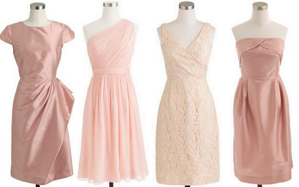 Style Inspiration & Design Linen Bridesmaid Inspiration Blush Pink, Champagne