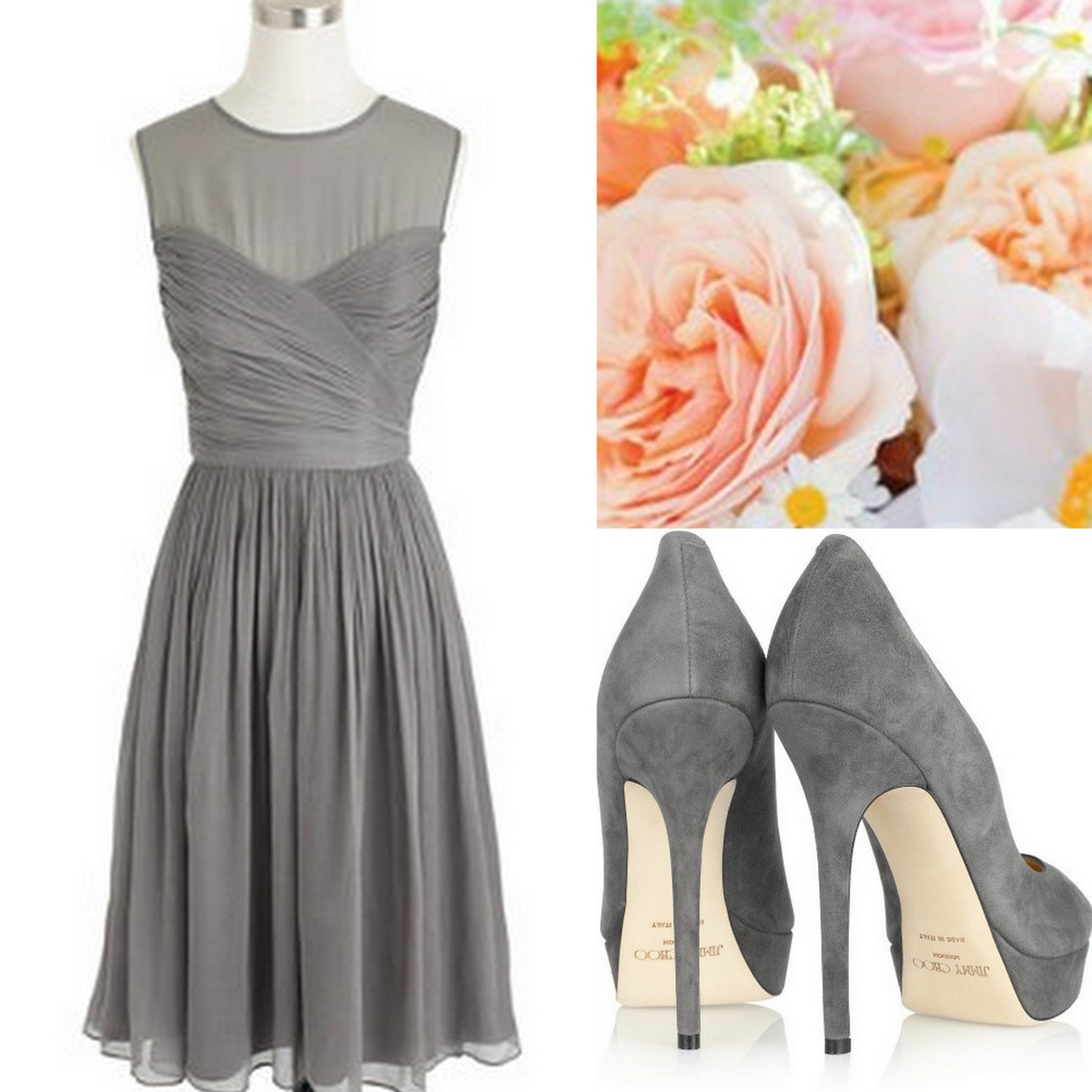 Bridesmaid Dresses Gray And Yellow Wedding Dresses