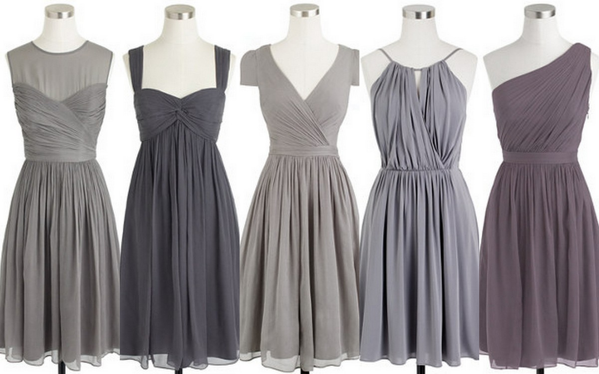 Bridesmaid: Style, Inspiration, Design, Turbulence, Gray, Bridesmaid Dress Ideas, J.Crew