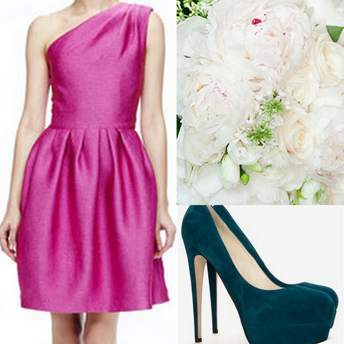 Pink Bridesmaid Dress Inspiration, Style, Inspiration, J.Crew, Jimmy Choo