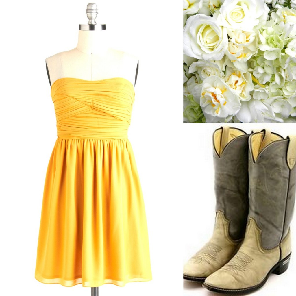 Yellow Bridesmaid Dress Inspiration, Style Inspiration, & Design, Lisa Sammons Events, Rustic, Elegant