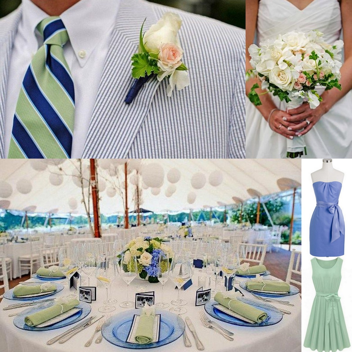 Featured image for 'Seafoam Green and Sky Blue-Real Wedding' article
