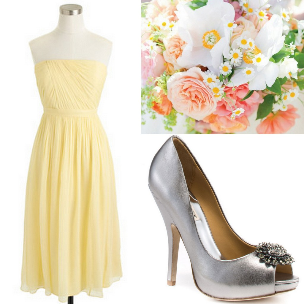Yellow Bridesmaid Dresses Inspiration & Wedding Style Yellow