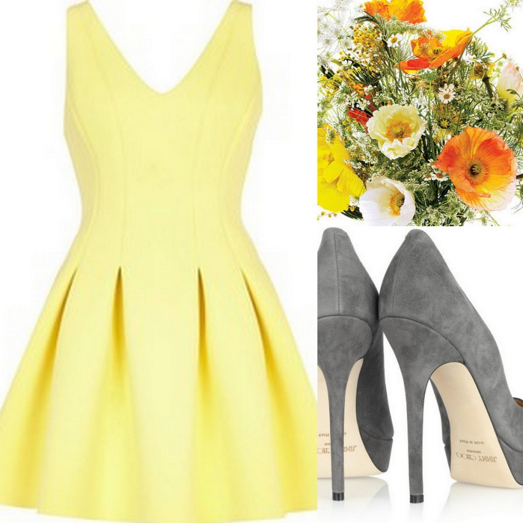 Yellow Bridesmaid Dress Inspiration, Style Inspiration, & Design, Lisa Sammons Events, Turbulence-Gray