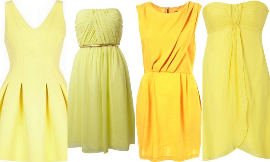 Yellow Bridesmaid Dress Inspiration