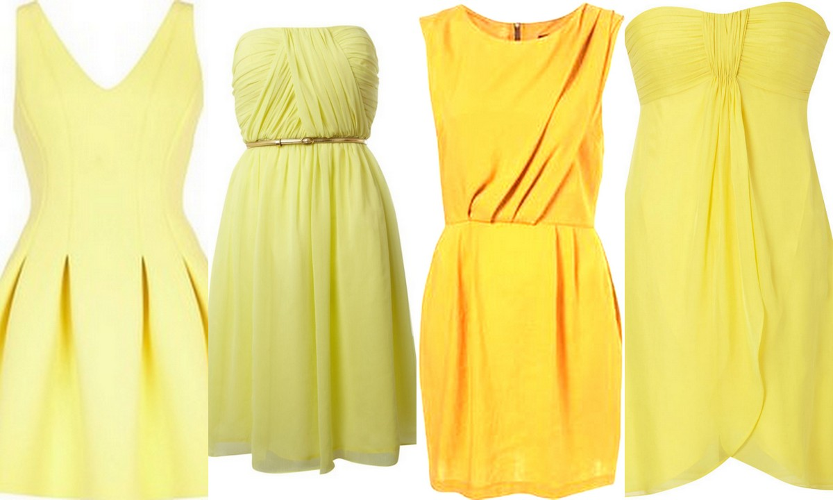 Yellow Bridesmaid Dresses: Inspiration & Wedding Style: Yellows