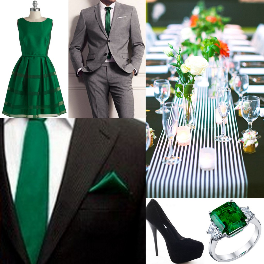 Emerald Green Wedding Inspiration by Lisa Sammons Events