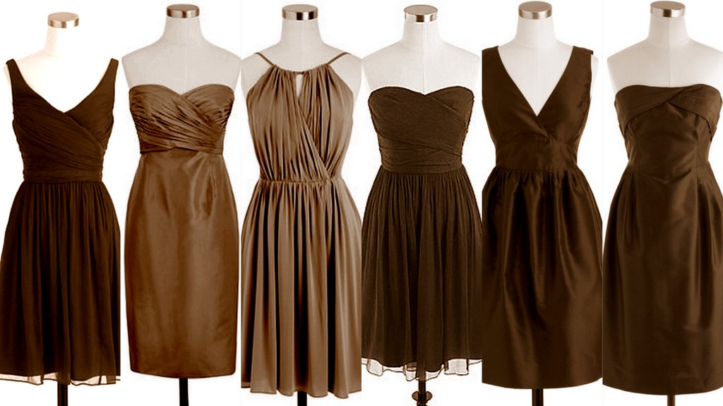 Brown Fall Dresses Brown Bridesmaid Dresses