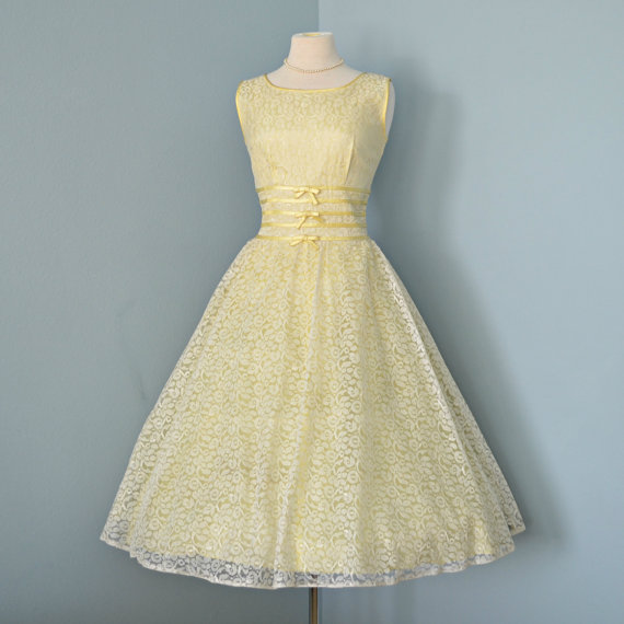 Yellow Bridesmaid Dress Inspiration, Style Inspiration, & Design, Lisa Sammons Events, Vintage