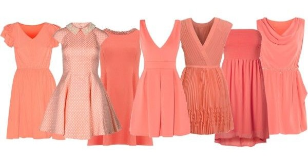 Featured image for 'Inspiration: Spring & Summer Bridesmaid Dresses: Color: Coral' article