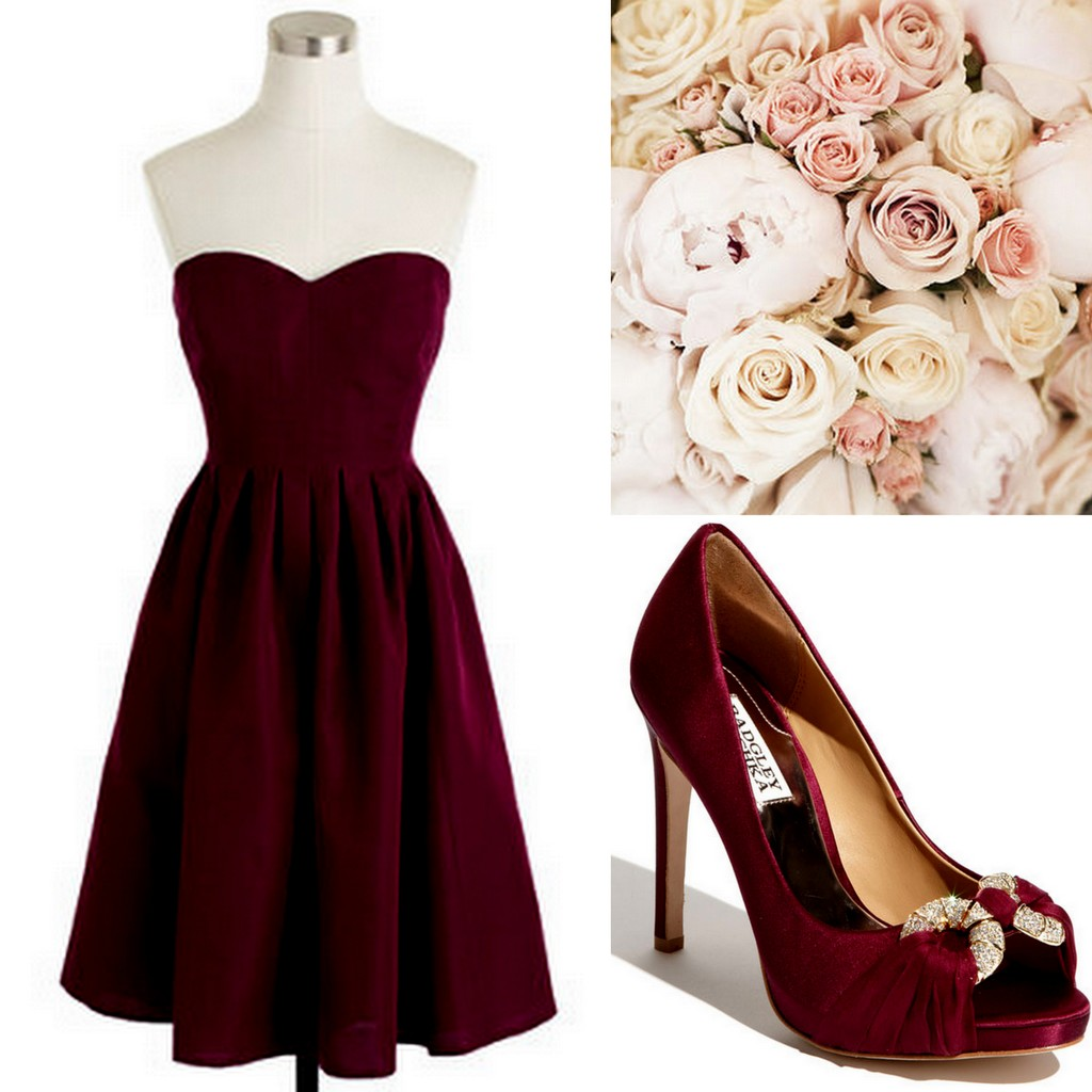 Fall-Winter Weddings-Cranberry-Red-Burgundy Bridesmaid