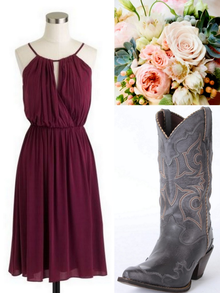 Cranberry dress for wedding