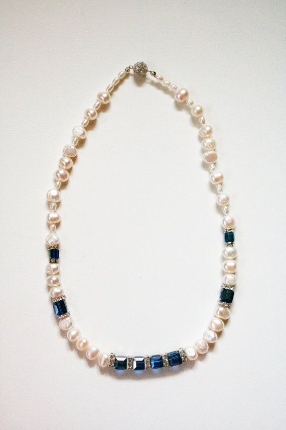 Pearl and Teal - Bridesmaid Necklace