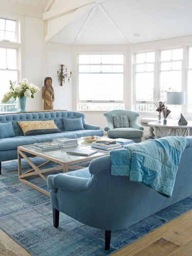 Teal living Room - Country Living - Lisa Sammons Events