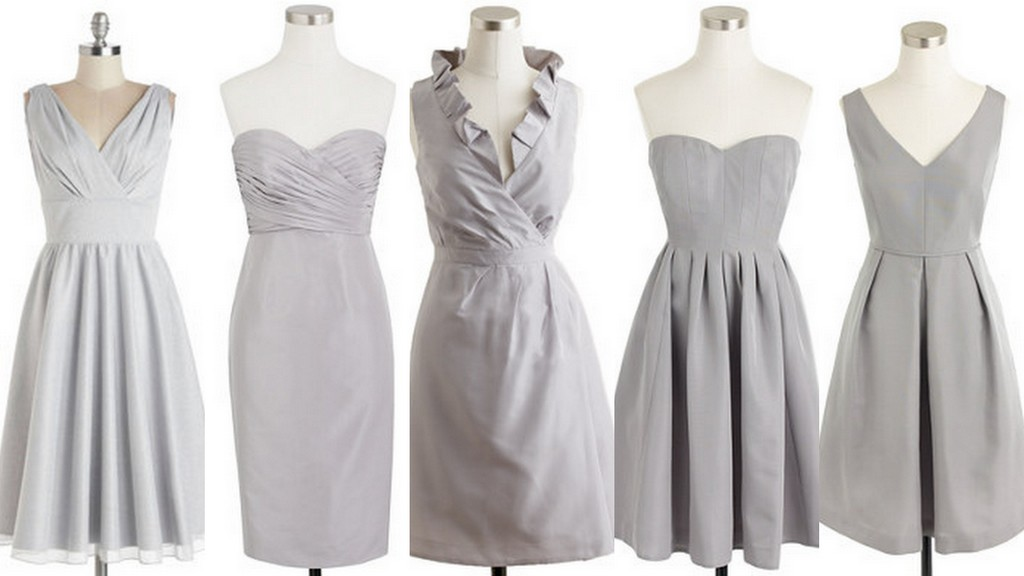 Featured image for 'Aluminum-Gray:Bridesmaid Dresses with Bouquets & Shoes: Part I' article