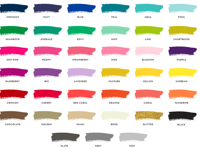 Wedding Colors Colors for 2014 and 2015 Weddings
