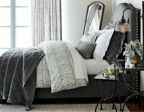 gray room ideas decorating with gray - Pottery Barn Bedroom Decorating Ideas