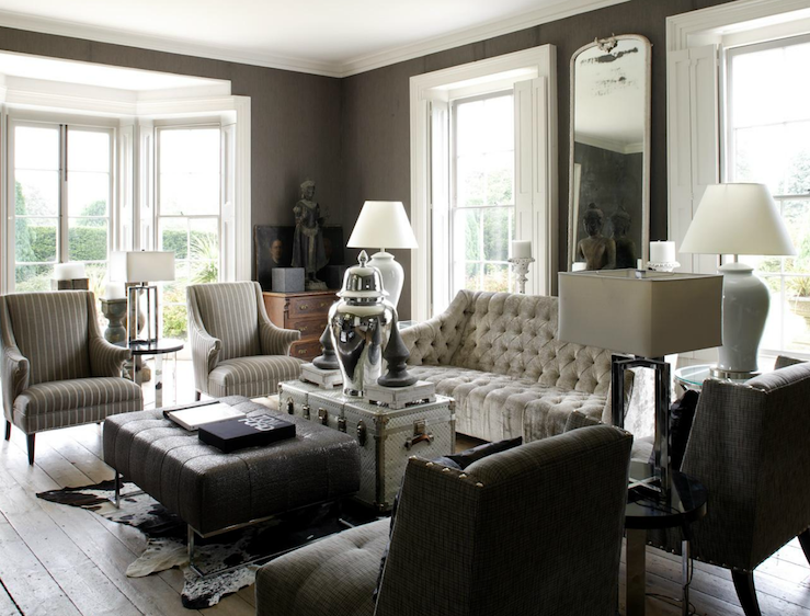 Gray Living Room Ideas - Lisa Sammons 5