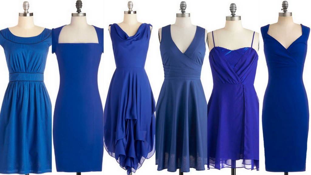 Royal Blue and Cobalt Bridesmaid Dress Ideas