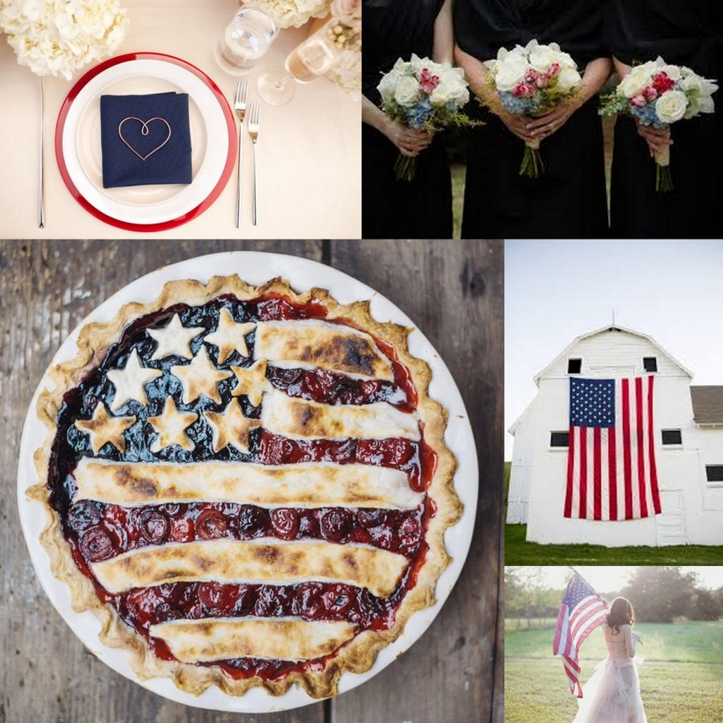 Red, White, and Blue Weddings