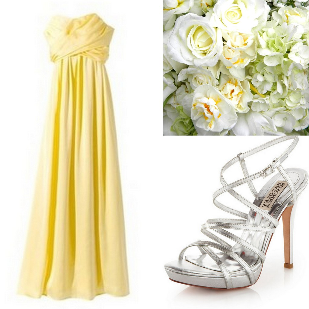 Long Yellow Bridesmaid Dress Ideas