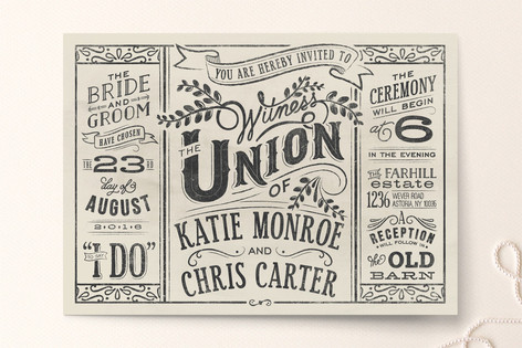 Minted Beige Wedding Invitations- Lisa Sammons Events