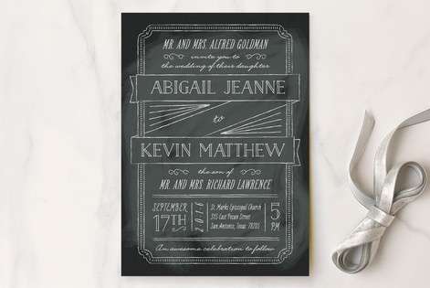 Minted Black Wedding Invitations-Lisa Sammons Events