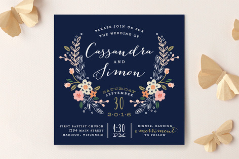 Minted Blue Wedding Invitation - lisa sammons events