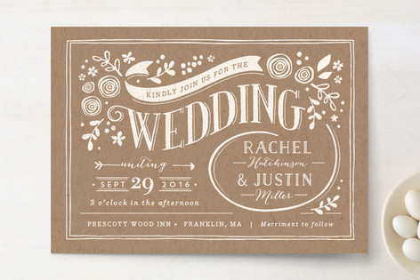 Minted Brown Wedding Invitation - Lisa Sammons Events