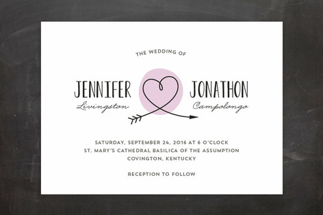 Minted Lavender Wedding Invitation Lisa Sammons Events