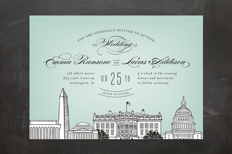 Minted Mint Wedding Invitations, Lisa Sammons Events