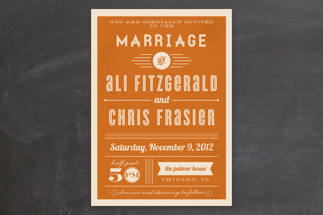 Minted Orange Wedding Invitations - Lisa Sammons Events