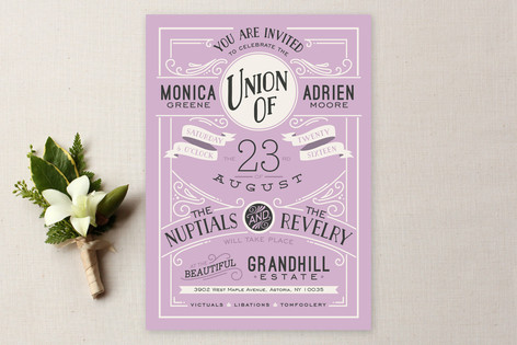 Minted Purple Wedding Invitation Lisa Sammons Events