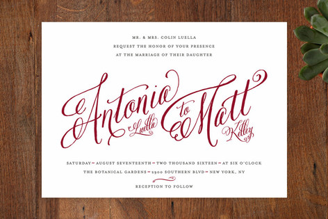 Minted Red Wedding Invitations - Lisa Sammons Events