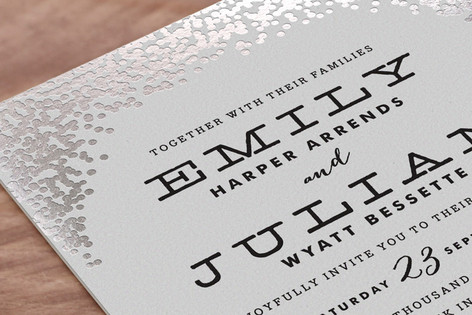 Minted Silver Wedding Invitations - Lisa Sammons Events