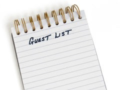 Wedding Guest Lists, Lisa Sammons Events, Real Wedding Planner Advice