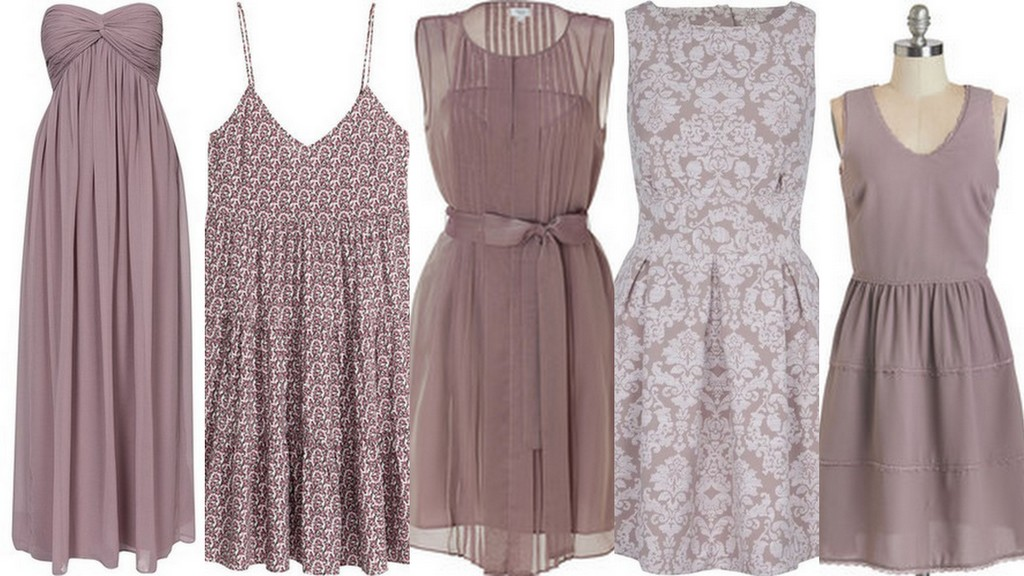 Fall and Winter Bridesmaid Dress Ideas-Mauve