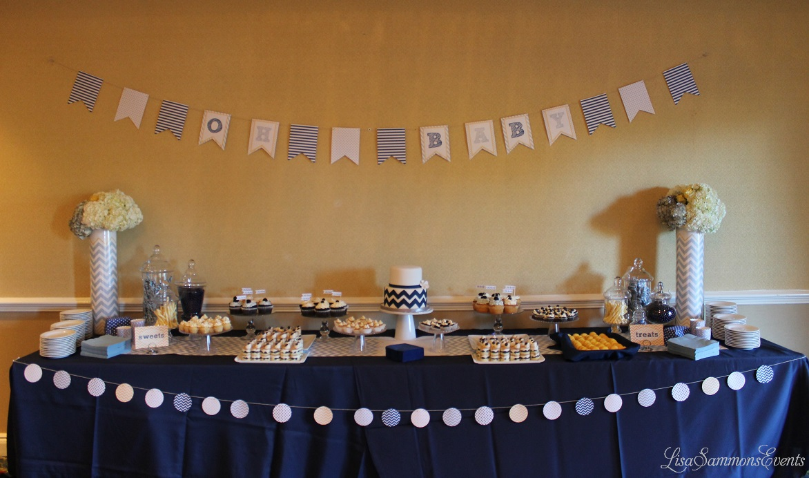 Featured image for 'Dessert Table Ideas & Event Design Details: Inspiration: Blue, Pale Gray, Yellow' article