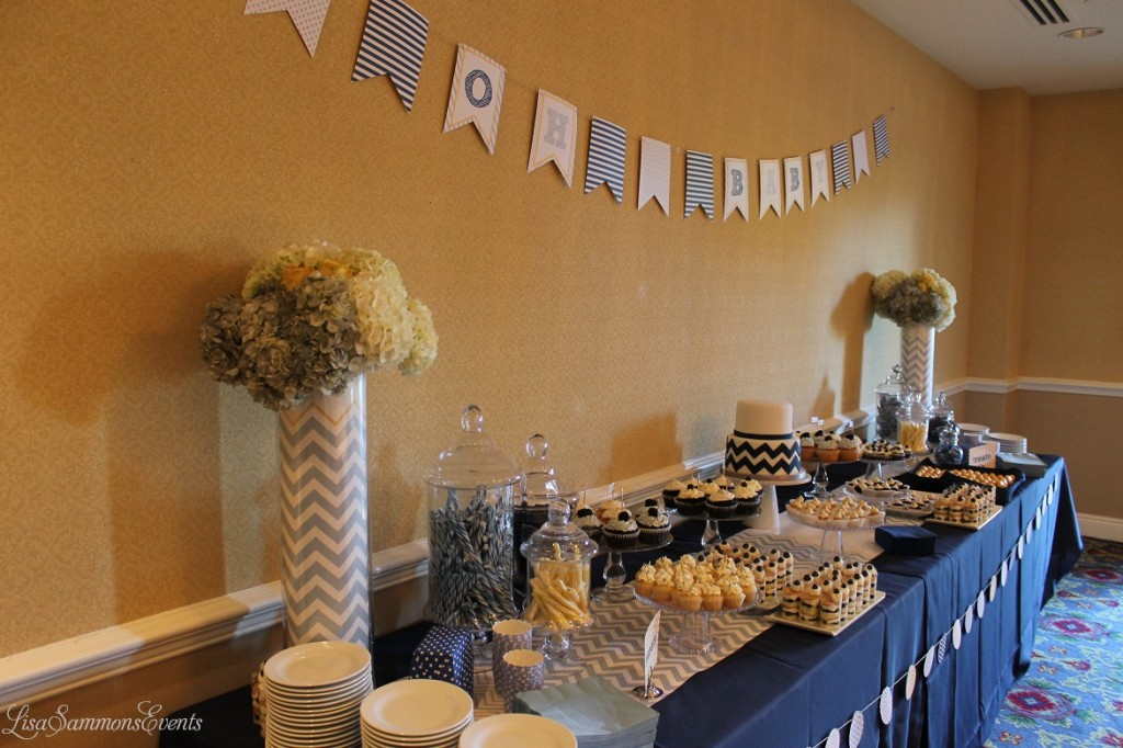 Blue Pale Gray Yellow Baby Shower
