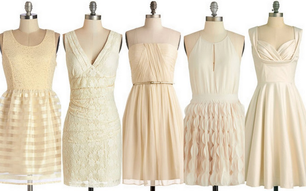 Ivory-Cream Bridesmaid Dress Ideas